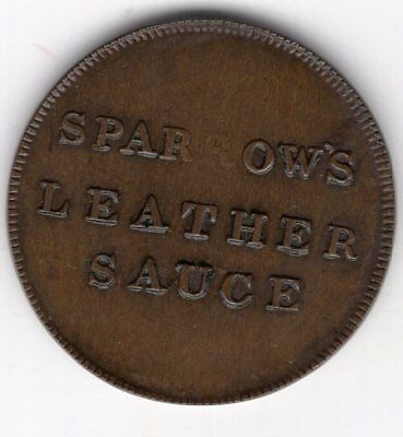 1839 British Unofficial Farthing, Sparrow Nail Merchant, London, by T.W. Ingram