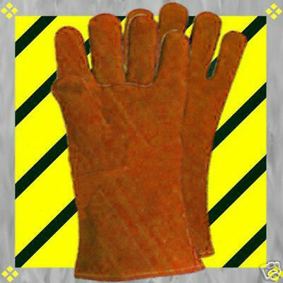 L-LEATHER WORK 2 Pr Adult Men BBQ Heat Cook-Out Liner Fireplace Wood Gloves