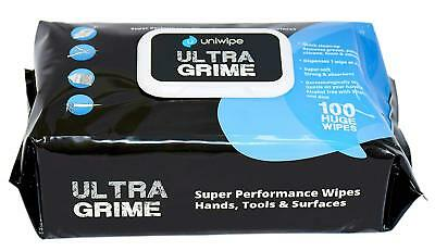 Uniwipe UltraGrime Extra Large Industrial Cleaning Wipes - Pack of 100