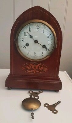 Antique Mantel Clock Gustav Becker Circa 1930