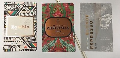 ++ 3 STARBUCKS Reserve 2018 New Collection Coffee Taster Single Card Lot Blonde