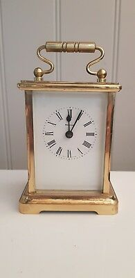 Vintage Dominion 8 Day Brass Carriage Clock Working Order - I.feld