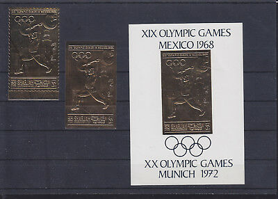 069867 Olympic Games Olympia Sharjah Stamps Briefmarken ** MNH