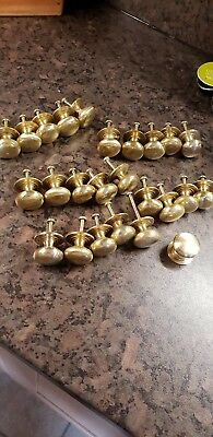 Brass Drawer /door Knobs 25 Of Used