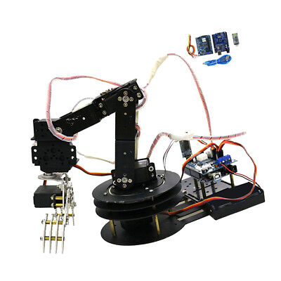 5 Axis Metal Robot Robotic Mechanical Gripper Arm Kit w/ Servo For Arduino