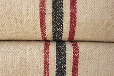 STAIR RUNNER HEMP fabric material HOMESPUN grainsack grain sack PER YARD