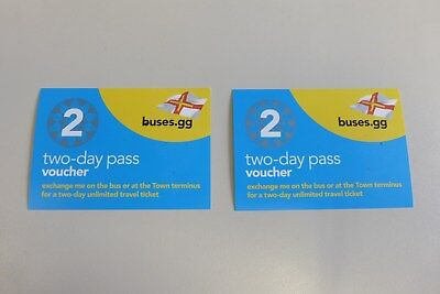 2 Two-day bus vouchers on Guernsey (Channel Islands)