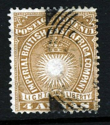 BRITISH EAST AFRICA KUT Queen Victoria 1890 4 Annas Yellow-Brown SG 9 VFU
