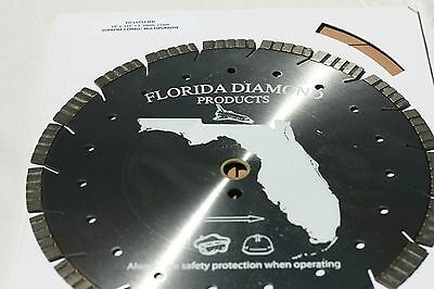 "Diamond Blade 14"" 12Mm Segment, for Cured Concrete,Extreme Long Life, Fits Stihl"