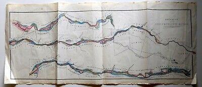 Geological Map / Terraces Upon The Connecticut River - H-C - 1861 - Vt / Nh