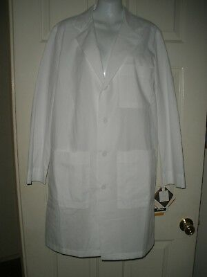 """#668 Mens womens Barco Labcoat White Visa System 3 S Chest 34"""" to 36"""" new NWT"""