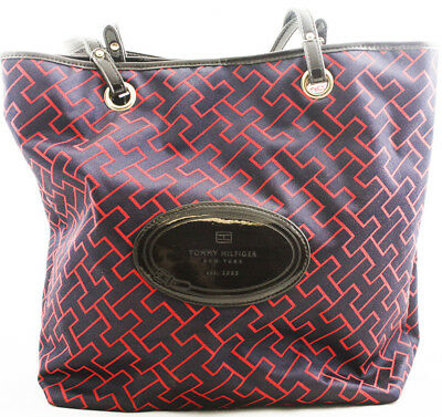Women s Tommy Hilfiger Mag Tote Handbag Purse Large Bag Blue Red New  Authentic 6ba5b0b68faa9