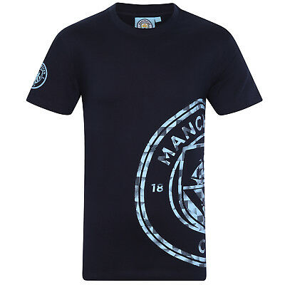 Manchester City FC Official Football Gift Mens Graphic T-Shirt