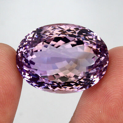 Ametrine Gem 55.41ct. 26x20mm Oval Cut 100%natural Top Bi Colors Purple Yellow