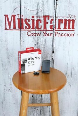 IK Multimedia iRig Mic Cast Portable Recording Microphone Smart Phones & Tablets