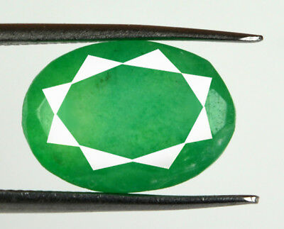 Green Emerald Loose Gemstone 8.60 Ct Natural Brazilian 13 x 10 mm Oval Cut