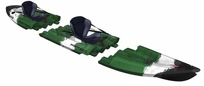 Kayak modulable Tequila GTX Angler Duo Point 65°N pour pêche, camouflage