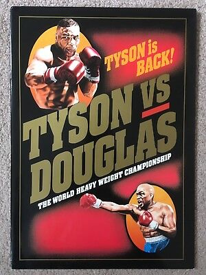 Beautiful Vintage Original Mike Tyson Vs Buster Douglas On Site Programme 1990!!