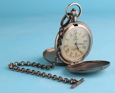 Sacred Silver-Plated Pendant Pocket Watch Mechanized Collec Gift Decora