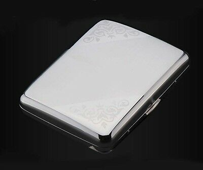 Fashion Creative Portable Stainless Steel Cigarette Case (Hold 16 Cigarettes)*