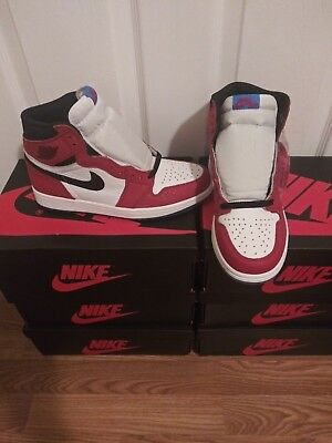 "NEW DS 2018 NIKE AIR JORDAN 1 RETRO HIGH OG ""Origin Story"" 555088-602 Spider Man"