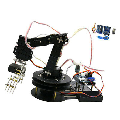 5 Axis Metal Robot Robotic Clamp Gripper Arm Kit w/MG-996R Servo For Arduino