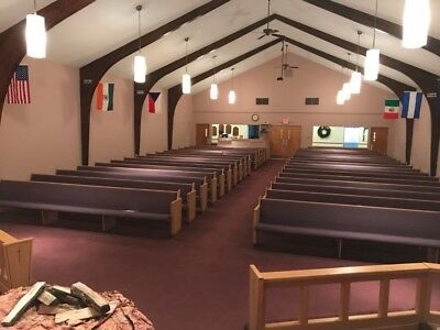 "34  Church Upholstered Pews  - 14'9"" Ft Long Each - $10"