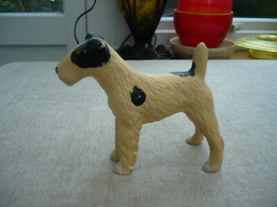 Large Antique china fox terrier standing dog