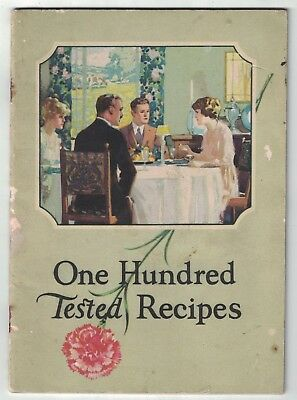 Antique 1922 100 Tested Recipes Carnation Milk Products Color Photos Booklet