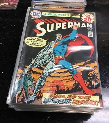 Superman Bronze Age COMIC Lot Of 33 NICE COLLECTION AVERAGE VF- 280-348