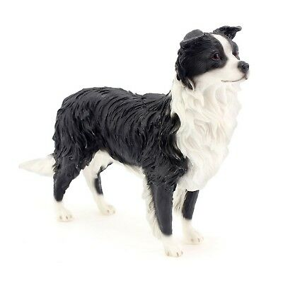 Border Collie Dog Resin Sculpture Decorative Ornament Standing Figurine Decor