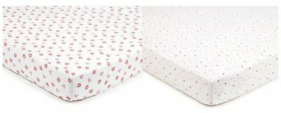 Breathable Baby SUPER DRY COT SHEETS 2 PACK - ENGLISH GARDEN - NEW