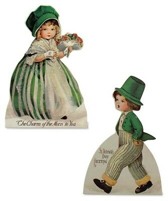 St Patrick's Day Greetings Wood Dummy Boards Set of 2 Bethany Lowe New