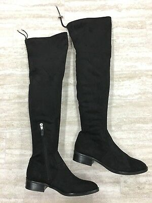 5380e3dacc7f48 New Sam Edelman Paloma Over-the-Knee Black Suede Small Heel Boots Size
