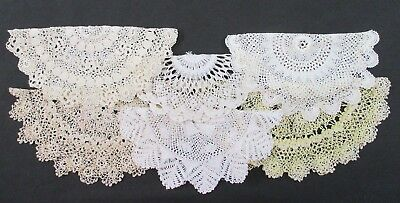 Lot 6 Vintage Hand Crochet Crocheted Lace Lacy Doily Doilies EXC