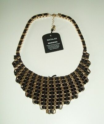 Matalan Cleopatra Style Necklace - Black & Gold - New With Tags - Damaged