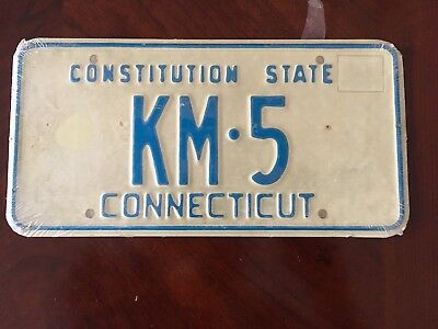 Vintage CONNECTICUT 1974 LICENSE PLATES, NEVER OPENED, STILL IN SHRINK WRAP KM-5