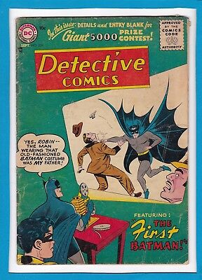 Detective Comics #235_Sept 1956_G/vg_Batman_Robin_Origin Of Batman & Costume!