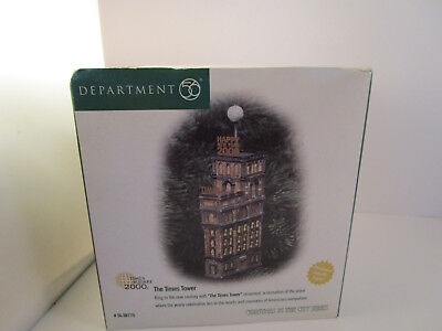 Dept 56 Village Accessories Christmas in the City Times Tower Square 2000