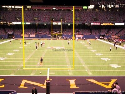 1 of 5 Tickets Carolina PANTHERS @ vs New Orleans SAINTS 11/24 Field 128 Row 14