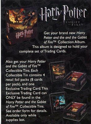 Harry Potter And The Goblet Of Fire Tin & Binder Order Card