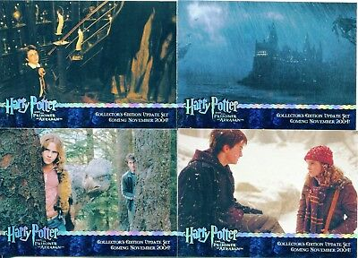 Harry Potter Prisoner Of Azkaban Update Complete 4 Card Holofoil Promo Set
