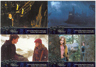 Harry Potter Prisoner Of Azkaban Update Complete 4 Card Silver Foil Promo Set