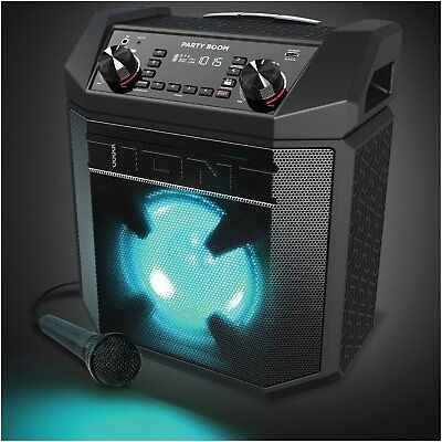 Ion Party Boom - 100W High-Power Rechargeable Speaker with Lights, Bass Boost ™