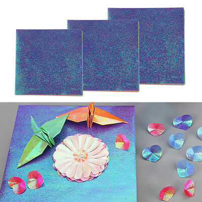 50pcs Origami Handmade Paper Pearl Double Side Color Shining Paper Mix color
