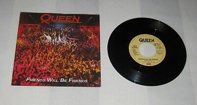 "QUEEN : Friends Will Be Friends, Rare 1st Press Vinyl 7"" Single 1986 Germany EMI"