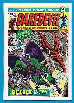Daredevil And The Black Widow #108_March 1974_Nm Minus_The Beetle_Bronze Age!