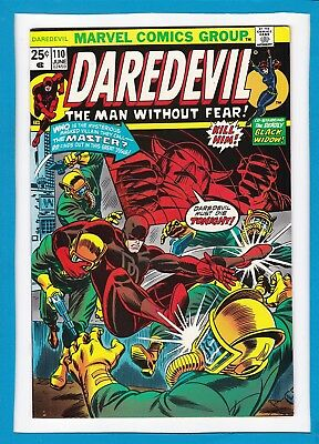 """Daredevil And The Black Widow #110_June 1974_Vf/nm_Fantastic Four_""""birthright""""!"""