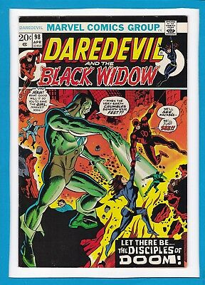 """Daredevil And The Black Widow #98_April 1973_Very Fine_""""the Disciples Of Doom""""!"""