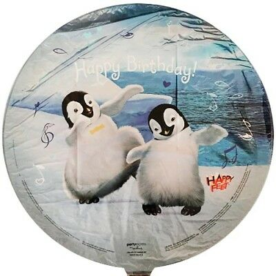 HAPPY FEET FOIL MYLAR BALLOON Birthday Party Supplies Helium Decoration Mumble